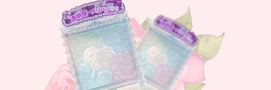日本CANMAKE井田 花瓣雕刻五色高光粉 #01幻彩蓝 6.3g