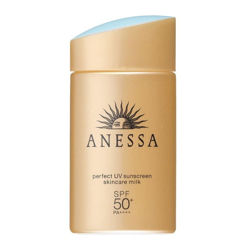 SHISEIDO ANESSA Perfect UV Sunscreen Skincare Milk Gold Normal Skin SPF50+ PA++++ 90ml