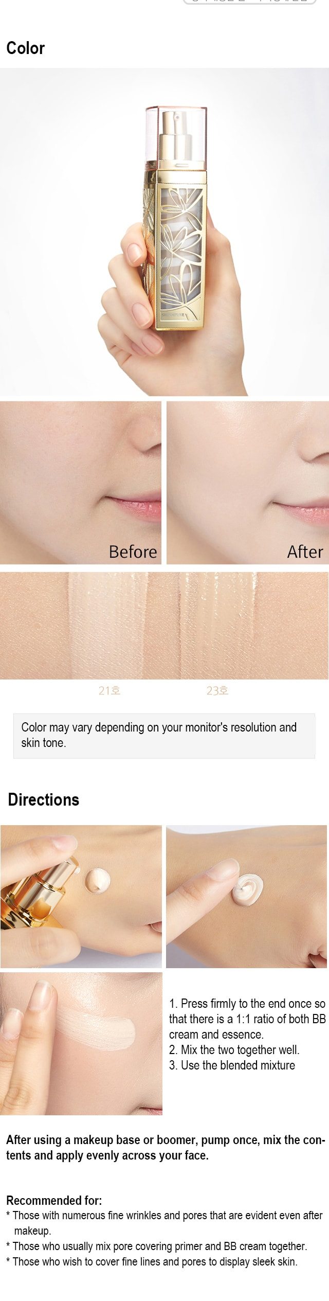 Image result for MISSHA Signature Wrinkle Fill-up BB Cream SPF37PA No21