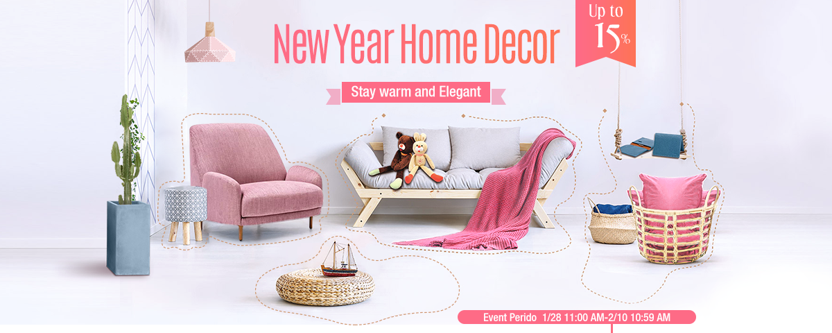 New year home decor stay warm and elegant