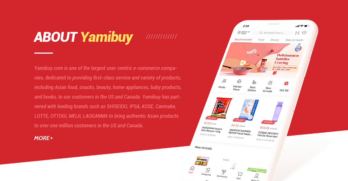 Welcome to Yamibuy!