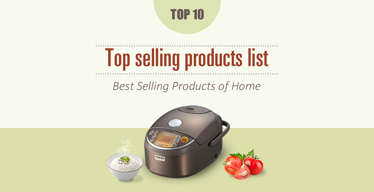 Top selling products list