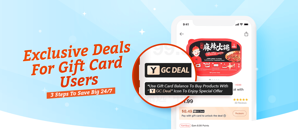 8/9Gift Card & Deal Products