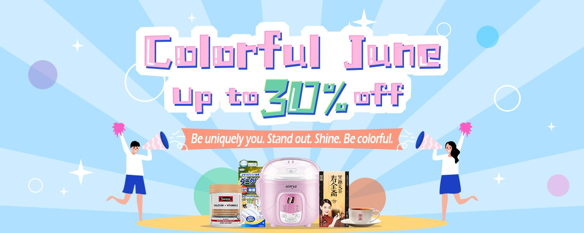 Coloful June  Up to 30% off