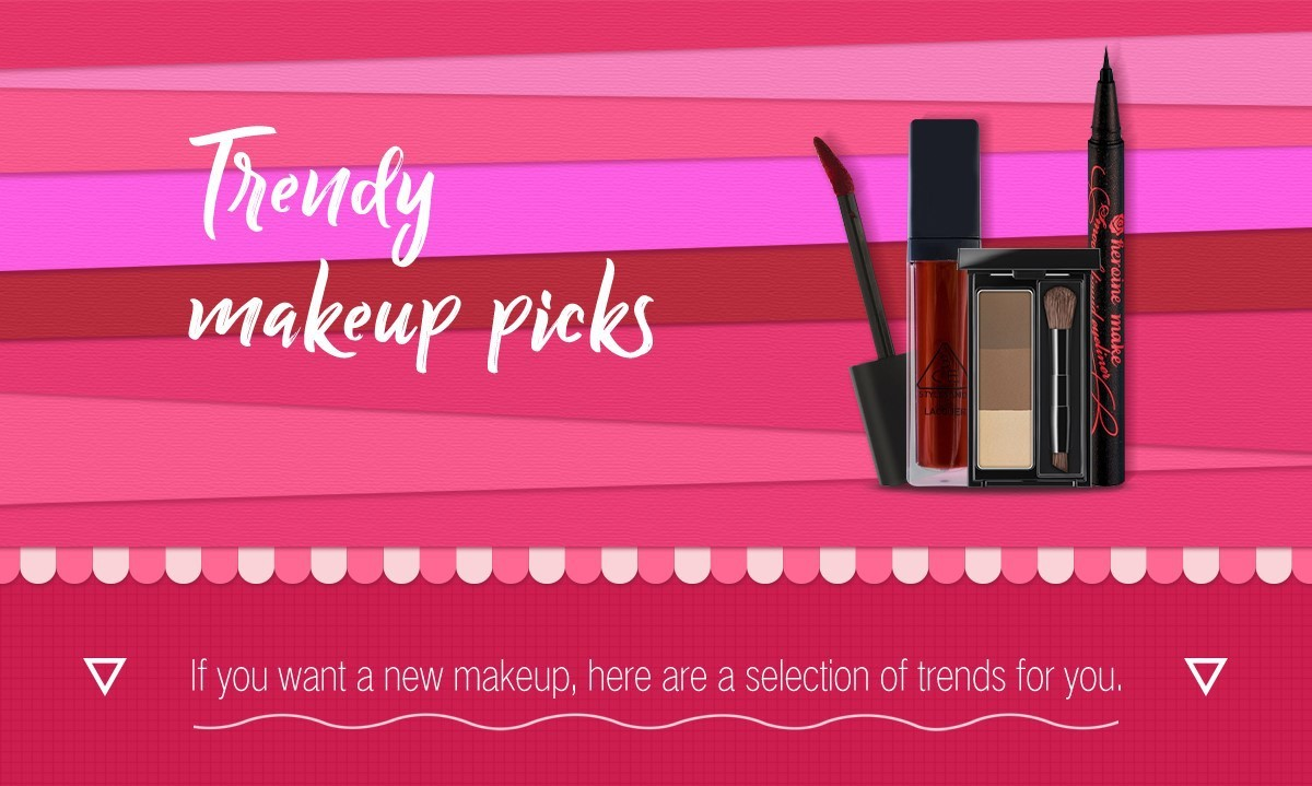 Trendy makeup picks