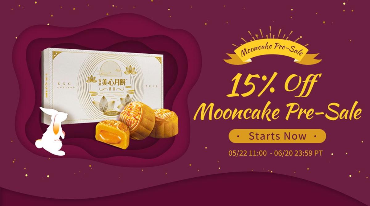 5/29 15% Off Moon cake pre-sale